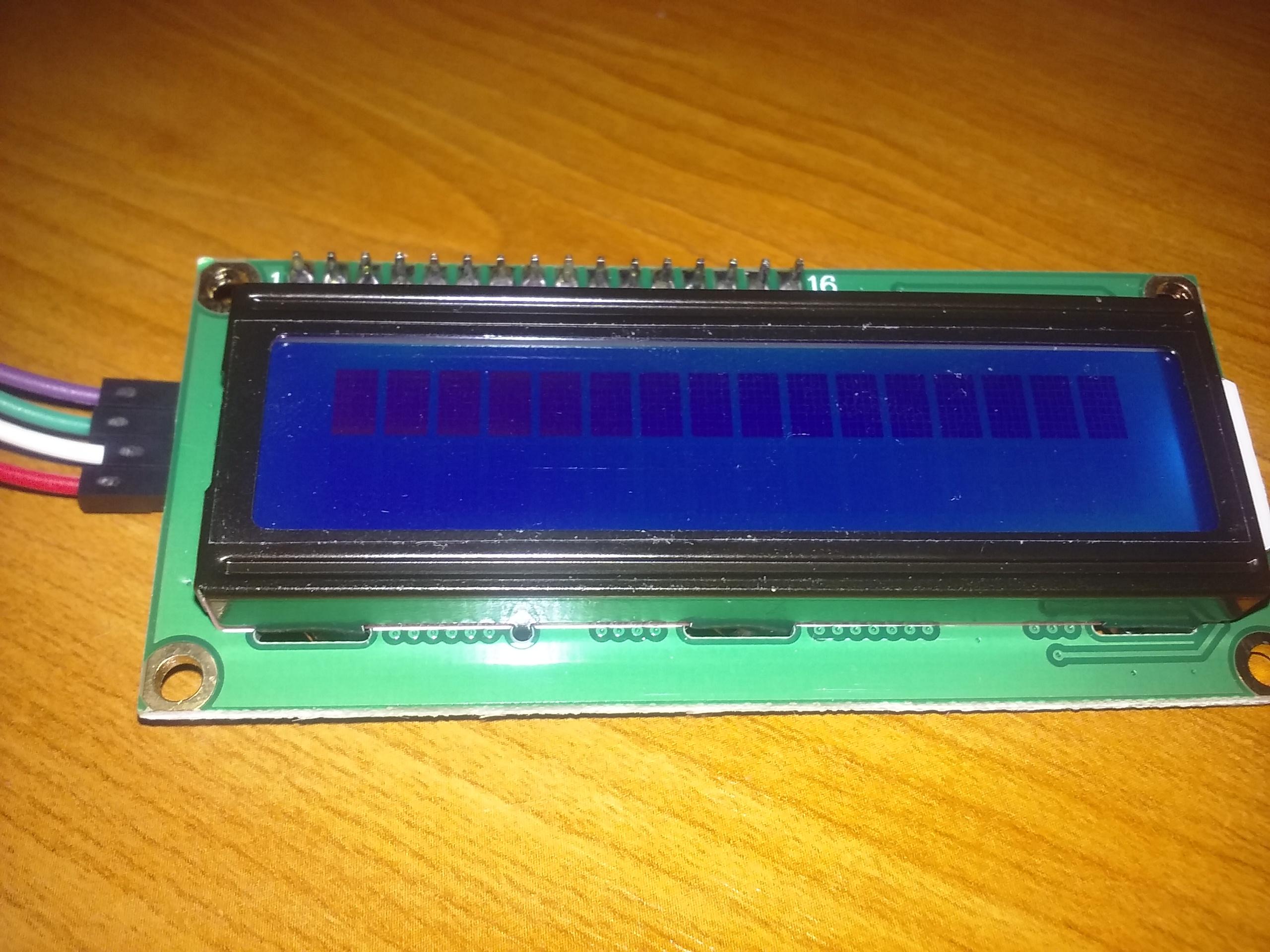 2x16 karakteres LCD kijelző