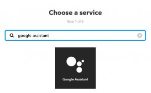 IFTTT chose service