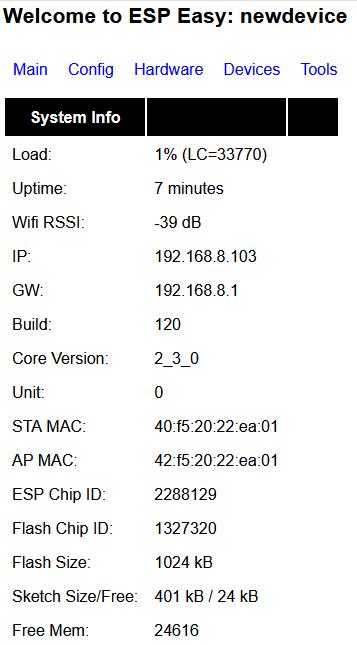 ESP-01S és DHT11 ThingSpeak - New Device
